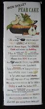 """Mary Lake Thompson Iron Skillet """"Pear Cake"""" Flour Sack Kitchen Towel 30x30, NEW!"""