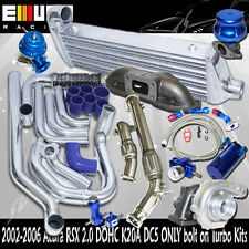 ACURA RSX DC5 K20 complete bolt on turbo kit intercooler kits+Manifold+downpipe