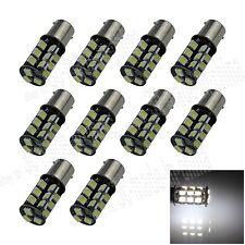 10X White 1156 G18 Ba15s 27 5050 LED SMD Canbus Error Free Light Bulb Lamp D008