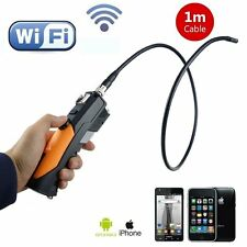 Wireless Wifi Endoscope Camera WF200 1M Probe Cable 8.5mm HD 720P iphone android