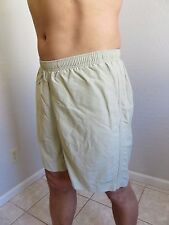 LL Bean Shorts Swim Trunks Beige Nylon Mesh Lined Mens Size M