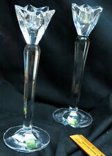 "(2) Waterford crystal Marquis 10"" Candlesticks / old original labels never used"