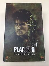 Hot Toys MMS 135 Platoon Chris Taylor Charlie Sheen 12 inch Action Figure NEW