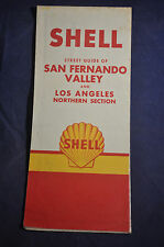 Shell Street Guide of San Fernando Valley & Los Angeles Northern Section Map