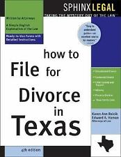 How to File for Divorce in Texas-ExLibrary