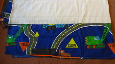 BED SKIRT Bedskirt Kids Boy Construction Semi Trucks Cranes Tractors Twin Size