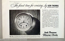 Ship's Bell Boat Clock PRINT AD - 1948 ~~ Seth Thomas Marine Clocks