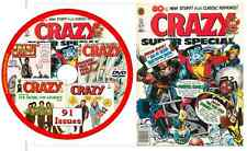 91 Crazy Comic Magazines 1973 - 1983 in PDF on DVD satire stan lee