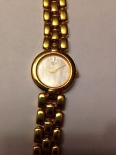 Seiko Women's Gold Tone Stainless Steel Mother-of-Pearl Watch  530291
