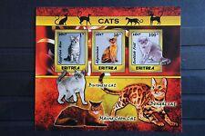 Katzen 05 cats Chats pet Tiere animals Fauna sheet postfrisch ** MNH Bhutan 2016