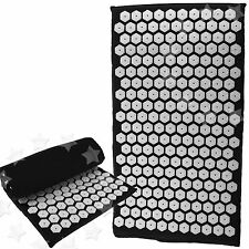 MASSAGE SHAKTI ACUPRESSURE MEDITATION YOGA INSOMNIA NAIL MAT BLACK COLOR