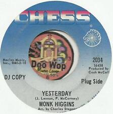 MONK HIGGINS Yesterday BEATLES SOUL R&B JAZZ PROMO DJ 45 RPM RECORD