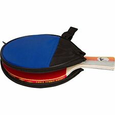 Ping Pong Table Tennis Paddle High Performance Rubber & Travel Case Beginners