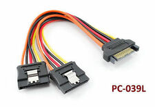 6 inch Latching Serial ATA Power Cable SATA Splitter Adapter - PC-039L