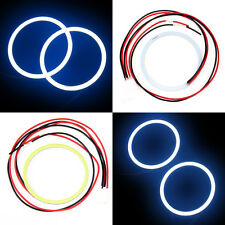2x 80 MM COB LED Angel Eyes Halo Ring Bulb Car Fog light Lamps For Chevrolet