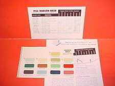 1955 1956 NASH HUDSON RAMBLER AMBASSADOR STATESMAN HORNET HOLLYWOOD PAINT CHIPS