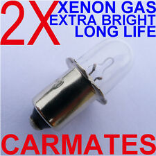 2 Torch Bulbs 9.6V for DEWALT HITACHI RYOBI AEG MAKITA Ryobi GMC Xenon Gas OZ