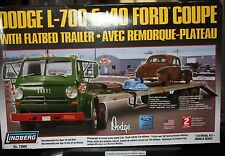 Lindberg Doge L-700 & '40 Ford Coupe with flatbed trailer 1:25 Model Kit