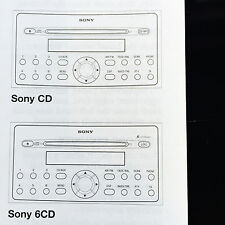 Ford Sony 6 Cd Y Cd Single Radio Operativo Manual Libro De Instrucciones Manual