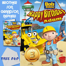 BOB THE BUILDER - PERSONALISED Birthday Card Son Brother Nephew Grandson