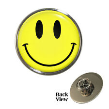 Smiley Face Metal Pin Badge smily smile grin happy yellow NEW