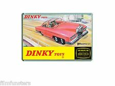 60's NOSTALGIA -THUNDERBIRDS - DINKY FAB ONE TOY ADVERT - JUMBO FRIDGE MAGNET