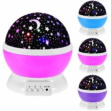 Room Night Light Rotating Star Moon Projection Dreaming Lamp for Baby Kids Gifts