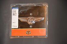 Harley OEM ORIGINA Skull with Wings Chrome medallion Sissy Bar Tour Pack Battery