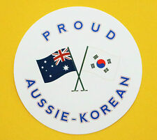PROUD AUSSIE - KOREAN AUSTRALIAN STICKER KOREA VINYL DECAL CAR UTE TRUCK CARAVAN