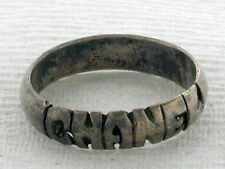 "Sterling Silver Ring with word ""C H A N E L"""
