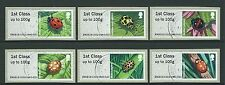 GREAT BRITAIN 2016 POST AND GO LADYBIRDS SET OF 6 FINE USED