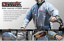 Risk Racing Jacket Claro Impermeable Capa de Lluvia Motocross BMX MTB medio