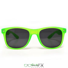 Sunglasses Black tinted lens Glow in the dark glowing frame eye glasses