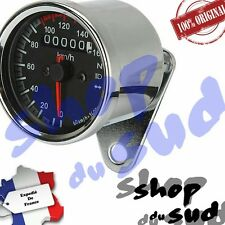 COMPTEUR KM/H Ø66MM CHROME LED CAFE RACER SCRAMBLER TRACKER TRIUMPH HONDA BMW