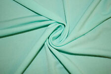Mint Solid ITY Polyester Lycra Spandex Stretch Apparel Fabric BTY