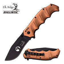 ELK RIDGE SPRING ASSIST FOLDING POCKET KNIFE ALUMINUM HANDLE POCKET CLIP A158DT