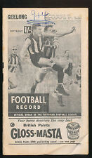1964 Football Record Geelong v Fitzroy Home & Away July 25 Cats Lions