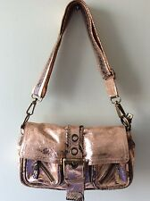 RIVER ISLAND real leather metallic pink and snakeskin crossbody shoulder bag