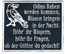 Gestickter Aufnäher Odins Raben werden kommen 12x10cm Patch Heiden Asatru Metal