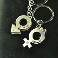 Lovely Boy and Girl Symbol Key Chain Keyring Keyfob Lover Couple Cute Gift Ring