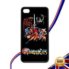 Classic Retro Cartoon-Thundercats Logo/Characters Rigid Rubber iPhone 4/4s Case