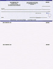 250 Printed QuickBooks Checks On Top w/o Logo