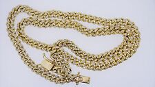12 Carats White Diamonds on 150 Grams Miami Cuban Link Chain 8.5 MM in YG ASAAR