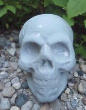 "rugged Latex skull mold plaster concrete Halloween mould 4"" x 3"" x 2.5"" w"