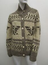 Vintage POLO SPORT Mohair Blend HAND KNIT Thick Cozy Cardigan Sweater Size M
