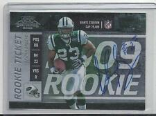 SHONN GREENE 2009 PLAYOFF CONTENDERS ROOKIE TICKET ON CARD AUTO RC #121