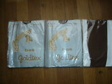 Helanca bas goldtex  Lot 3 P bas mousse fin sheer T-39-42 nylon gay int