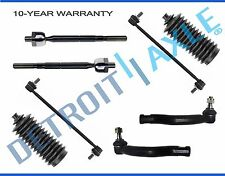 NEW 8pc Front Suspension Sway Bar + Tie Rod & Boot Kit for 2006-2015 Toyota RAV4