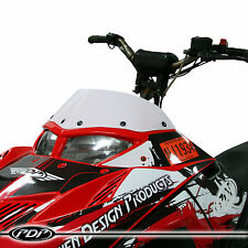 2005-2014 POLARIS IQR / IQRR Racer Snowmobile WINDSHIELD : GLOSS WHITE