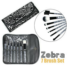 7 pcs Zebra Brush Set kit  Concealer lip eyebrow eyeshadow makeup cosmetics